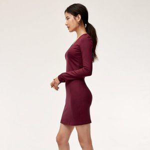 Aritzia Babaton VNeck Red Bodycon Sweater Dress